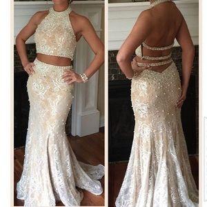 Dresses & Skirts - white/cream prom dress (worn once)